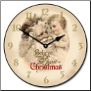 Vintage Santa and Child Clock (SKU: JTC-SOC)