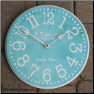 Modern Clock in Blue, Apple Green and More! (SKU: JTC-TURQMOD)