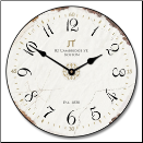JT Vintage White Wall Clock (SKU: JTC-VINWHITE)