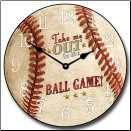 Baseball Kids Wall Clock (SKU: JTC-BLGMCL)