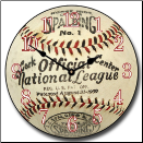 Baseball Clock National League (SKU: JTC-BaseBallClk)