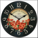 Bouquet of Poppies Clock
