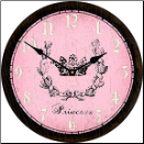 Princess Pink Girls Clock (SKU: JTC-PRINPNK)