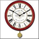 Lexington Red Wall Clock (SKU: JTC-LXRCP)