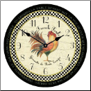 Rooster Kitchen Clock Vintage (SKU: JTC-LFPBR)
