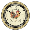 Le French  Rooster Clock (SKU: JTC-LFPGR)