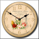 Paris Vintage Clock (SKU: JTC-TULIPS)