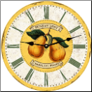 Botanical Pears Wall Clock (SKU: MDC-SBP12.5)