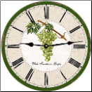 Grapes Vintage Wall Clock (SKU: MDCWFGGreen)