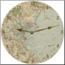 Blue Map Clock