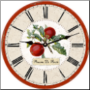 French Botanical  Apples Wall Clock