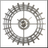 Alphonse Wall Clock Uttermost OUT OF STOCK (SKU: UTM-06440)