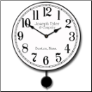 Simply White Pendulum Clock