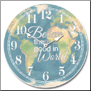 Believe World Map Clock (SKU: JTC-MAP2)