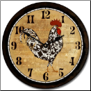 Rooster Clock KItchen (SKU: JTC-VRTRC)