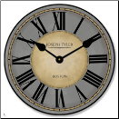 Waterferd Gray and Tan Clock (SKU: JTC-WATFRDTAN)