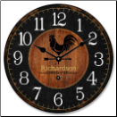 Rooster Kitchen Clock Farm Style (SKU: JTC-ROSFARM)