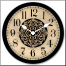 Arbor Decorative Tan Clock (SKU: JTC-ARBTAN)