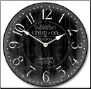 Arbor Black Wall Clock (SKU: JTC-ABORBK)