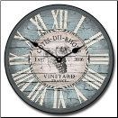 Wine Clock Vintage Blue