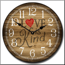 Love Is Kind Clock (SKU: JTC-LVSKND)