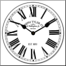 Swiss Time Clock White (SKU: JTC-SWTWH)