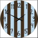 Children's  Stripes Clock (SKU: JTC-BLSTRIPE)