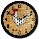 Seeing Spots Rooster Clock (SKU: JTC-PDRC)