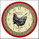 Rooster Clock Decorative (SKU: JTC-ROSWHITE)