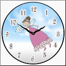 Fairy Wall Clock Childrens (SKU: JTC-FWC)