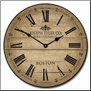 Barnwood Taned Wall Clock