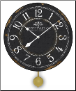 Pendulum Clock Black & White (SKU: JTCP-BWC)