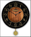 Anthone Black & Wood Pendulum Clock (SKU: JTCP-ATP)