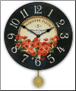 Red Poppies Floral Clock