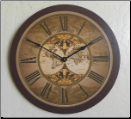Old World Map Wall Clock (SKU: JTC-MAP)
