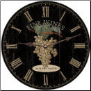 Fine Wine Black Grapes Clock