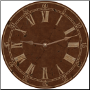 Classic Vintage Brown Wall Clock (SKU: MDC-BROWN)