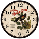 Botanical Bird  Wall Clock (SKU: MDC-BBWC)