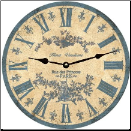 Blue Toile Wall Clock (SKU: MDC-LBTOILE)