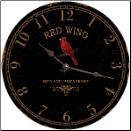 Red Wing Small Wall Clock