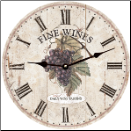 French Fine Wine Purple Grapes Clock