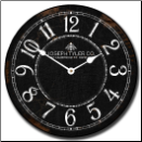 Large Black and White Clock (SKU: JTC-BWCLK)