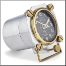 Altimeter Table Clock Polished Aluminum (SKU: PDLX-TCALTAL)