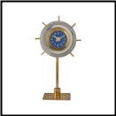 Skipper Table Clock Aluminum (SKU: PDLX-TCSKIAL)
