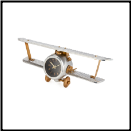 Biplane Table Clock (SKU: PDLX-TCBIPAL)