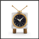 Teevee Table Clock (SKU: PDLX-TCTEEAL)