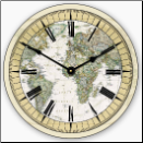 World Map Clock (SKU: JTC-EWMC)