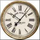 "Grand Central White Clock 23"" TradeMark Time Co"