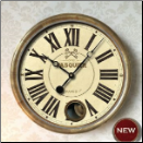 "Hotel Pasquier Cream Clock 14"" IP (SKU: TTC-HPC14IP)"