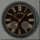 Le Cacheur French Wall Clock-Trademark Time (SKU: TTC-CAD17)